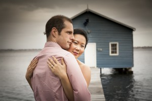 engagement shoot at the blue boat house with julie and simon